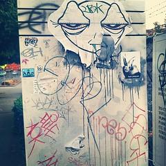 (croissantthief) Tags: seattle streetart graffiti wheatpaste graf stickers slap capitolhill slaps slaptag seattlestreetart fleshprisoner