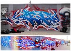 Homenaje a Bece (MR. BURNHUMANZ) Tags: espaa classic graffiti sevilla spain huelva cream andalucia crew graff wildstyle homenaje gines bece abdt abasedetaker