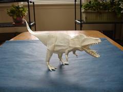 Giganotosaurus 3.0 (shuki.kato) Tags: paper origami dinosaur fold complex tracing kato shuki theropod carnosaur giganotosaurus giganoto