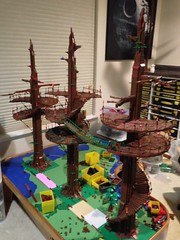 Endor rebuilding (brickplumber) Tags: lego returnofthejedi battles moc endor ewoks starwarslego fbtb ewokvillage diaorama