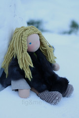 Bjrn in the snow (Fig & Me) Tags: boy toy doll natural handmade bjrn boneca viking puppe mueca norse bomma poupe popje bommai kukla lutka ningyou stoffpuppe ancientwarriors bubah figandme