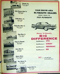 1959 Denver Plymouth Dealers (coconv) Tags: pictures auto door old city 2 two classic cars hardtop car sport vintage magazine ads advertising cards james photo fry flyer automobile post image photos shane thomas antique album postcard ad johnson picture plymouth pappy images denver advertisement company vehicles photographs card photograph postcards co vehicle motor kit mopar autos collectible collectors griffith press majestic brochure coupe thompson fury automobiles 1959 dealer cullen bink prestige hyer stabdard dealers59
