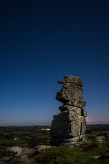 Bowerman's and the Big Dipper (the milster) Tags: uk england moon night stars landscape nose nikon ruins rocks ngc devon 1855mm dartmoor bowermans d3100