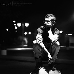 (AsooM photographer) Tags: winter friends light portrait bw white outside for star high focus waiting flickr photographer background osama wait sharpen faisal      haet   asoom        al3tr