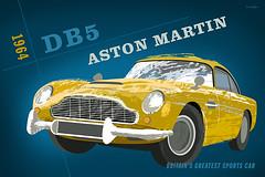Aston Martin DB5 (Crampton Illustration) Tags: illustration automobile martin aston db5 retroillustration carposter michaelcrampton