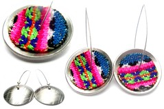 Angeles Flor surtido elak earrings (Ans Designs) Tags: textilejewellery angelesflor aluminiumjewellery ansdesigns