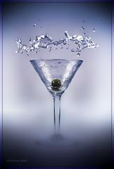 Alcohol Abuse (Steve Corey) Tags: martini drop splash dropart liquorart forbesmagazine experimentalphotoart labphotography olivedrop vodkaabuse