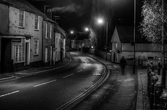 336/366 Down My Street (Mark Seton) Tags: nightphotography blackandwhite night blackwhite essex dailyphoto pictureaday northstreet project365 greatdunmow dailyphotograph uttlesford countyofessex project365336 project365011212
