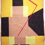 """<b>The Footstep, n.d. (after: Paul Klee)</b><br/> Rebecca Kamm (Art Quilt, 2011)<a href=""""http://farm9.static.flickr.com/8062/8242703864_776b3eb09e_o.jpg"""" title=""""High res"""">∝</a>"""