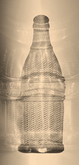 Nehi (ahpook12) Tags: abstract glass vintage death experimental antique contemporary fineart pop bones soda photogram rayograph alternativeprocess toner photograms nehi popbottle michaelmendez