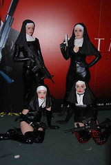 The Saints (Ibrahim D Photography) Tags: cosplay nun latex comiccon excelcentre cosplaygirls comiccon2012