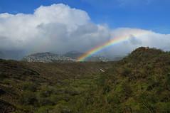 from diamond head crater, oahu, hawaii (wmwielenga) Tags: hawaii rainbow oahu diamondhead diamondheadcrater diamondheadcraterpark