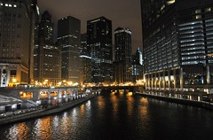 my kind of town (christiaan_25) Tags: city urban chicago reflection water beauty architecture night buildings river lights glow structures trumptower chicagoriver worldclass mykindoftown myhometown
