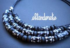 Collar Navajo (eltenderete.es) Tags: textura car beads handmade negro artesanal polymerclay collar artesanía kato hechoamano arcillapolimerica
