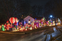 The Boultier House (EdwardFiederPhotography) Tags: santa christmas decorations lights holidays seasonal christmasdecorations hdr highdynamicrange blinkagain boultierhouse boultier