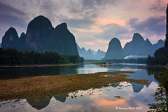 Li River, Xingping, China (Kenny Muir) Tags: china mountain river landscape li bravo guilin yangshuo limestone karst guangxi xingping