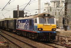 Stobart Rail Class 92 (Ian Chpman) Tags: warrington bank rail class quay locomotive 92 017 stobart