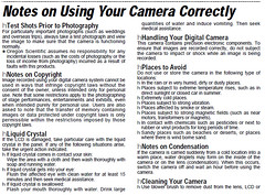 Notes on Using Your Camera Correctly (Chicken) Tags: camera strange photography text rules odd electronics instructions manual consumer osi oregonscientific ds6618