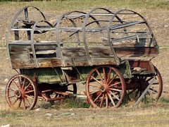 Old Wagon, Near Ennis, Montana (teresue) Tags: wagon montana mt ennis 2012 conastoga
