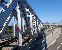 008 Ventura Train Trestle (saschmitz_earthlink_net) Tags: 2016 california orienteering laoc losangelesorienteeringclub venturacounty ventura freeway venturafreeway bridge railway trestle