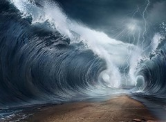 The seas are being parted (lisame0511) Tags: moses background wave ocean sea underwater water surreal tsunami waves abstract beach bottom clouds crack crash death design destruction escape high land miracle part pass sand swim travel voyage walk wall ukraine