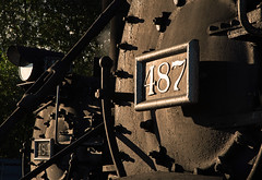 Chama at Sunrise (jterry618) Tags: 282 baldwin1925 cts484 cts487 chama chamayard cumbrestoltecscenicrailroad drgw484 drgw487 denverriograndewestern k36 newmexico rioarribacounty detail numberplate unitedstates us