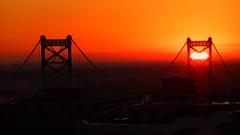 Sunrise (Nick Fewings 4.5 Million Views) Tags: usa philadelphia dawn newday sun orange bridge sunrise
