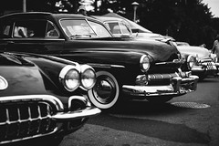 Mercury Monterey (Garret Voight) Tags: car vehicle automobile automotive old retro vintage classic antique american muscle chrome show custom modified lowered stance street hot rod 1940s 1950s mn minnesota outdoors 1960s backtothe50s mercury monterey blackandwhite monochrome bw