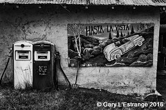 Hasta la vista, Burr Trail Road and Highway 12 (garylestrangephotography) Tags: hastalavista burrtrailroad highway12 gas fuel pump transport garylestrangephotography utah usa travelphotography america black white grey monotone mono outside travel tourism touristlocation touristattraction outdoor blackandwhite roadtrip