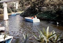 Disneyland motorboats ride, January 1967 (Tom Simpson) Tags: motorboat vintage disney vintagedisney disneyland vintagedisneyland tomorrowland fantasyland 1960s boat river ride 1967