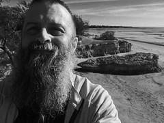 #Beardo & #ThatRock (Rantz) Tags: rantz mobilography 365 roger doesanyonereadtagsanymore mobilographypad2016 psad2016 darwin northernterritory thatrock selfie monochrome selfportrait beach casuarinacoastalreseve ofme self casuarinabeach