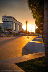 """ "" / On a walk in The Golden Hour (AVasilev) Tags:          sunset walk golden hour place sofia statue"