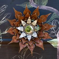Flower (StephenReed) Tags: flower abstract art abstractart metal rust van artcar nikond3300 stephenreed squareformat farmingtongallery selfie