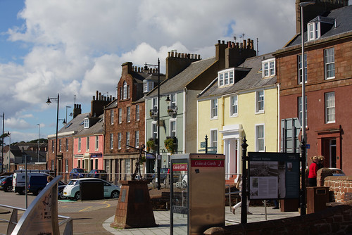 Arbroath Harbour - and here's the houses from the seat!