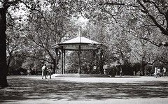 Battersea Park (Rthnm) Tags: blackandwhite olympustrip35 analog bandstand battersea london