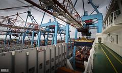 Atlantic Sea (Mark Holt Photography - 5 Million Views (Thanks)) Tags: atlanticsea acl peelports atlanticcontainerline docks seaforthcontainerterminal liverpool liverpooldocks