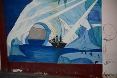 imaginary antarctic scene (cam17) Tags: chile valparaiso valparaisochile graffiti streetart valparaisograffiti imaginaryscene imaginaryantarctic antarctic mural wallmural