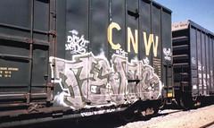 revers-freight-pink (Jonny Farrer (RIP) Revers, US, HTK) Tags: graffiti bayareagraffiti sanfranciscograffiti sfgraffiti usgraffiti htkgraffiti us htk revers rvs devo voidr voider reb halt