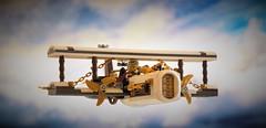 Steampunk airplane Cloudpiercer - in flight (adde51) Tags: adde51 lego moc steampunk cloudpiercer sky airplane foitsop swebrick