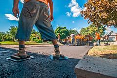 Tar Heels (fotofrysk) Tags: drivewaypavers driveway pavers pave tar black machinery smoke heat men safetyvest noise canada ontario thornhill sigma1020mm456dchsm nikond7100 201609157758