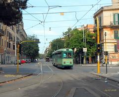 ROMA: tram Stanga n7041 in via di Porta Maggiore - linea 14 (Alefilobus) Tags: roma tram stanga rome line linea bahn streetcar tramway tramtrack tramline tranvia italy strasenbah strasenbahn strasenbahnen villamos sporvogn carroelctrico sprvagn route