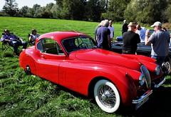 Rather bright and rather shiny: Jaguar XK FHC (Pim Stouten) Tags: arden british car auto wagen pkw vhicule macchina burgzelem jag jaguar red rouge rood rot cervene rosso xk coup coupe fhc