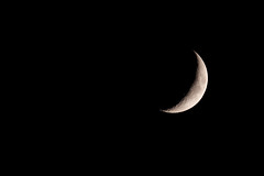 Today's Moon September : Crescent Moon (Colorful-wind) Tags: 2016 9月 air autumn color crescentmoon fujifilm fukuoka fullmoom japan lightandshadow moon naight nature nightview september sky xt1 北九州 日本 月 月光 福岡