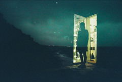 I'm drowning in what I won't be (Louis Dazy) Tags: 35mm analog film double exposure grain cinestill sea ocean half moon bay melbourne girl alone dark night