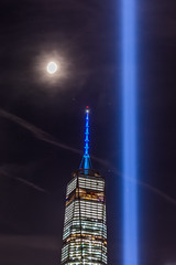BSD_6150 (BrandonD95) Tags: 911 2016 world trade center wtc sunset moon lights skyline nyc new york city lightroom