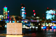 Art In The City (Tedz Duran) Tags: ikjoongkang tedzduran art river thames modern tate water millennium bridge city london england uk eu europe unitedkingdom nightscape night photography travel photo lights urban urbanscape bokeh floating high tide southbank riverside
