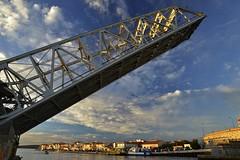 Le pont-levant ferroviaire (Michel Seguret Thanks all for 9.000 000 views) Tags: france herault sete languedoc etang thau michelseguret nikon d800 pro pont bridge brcke