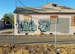 Development Opportunity (version) (rickele) Tags: instagramapp iphoneography uploaded:by=instagram devs graffiti sacramento southsac stocktonblvd abandonedhouse firedamaged