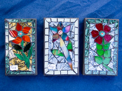 Tiny mosaics by Bill Allord, Shining Star Mosaics (marketkim) Tags: newproduct product eugene oregon saturdaymarket festival artfair eugenesaturdaymarket artfestival