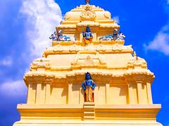 Temple Top Shiva (kaseyferlicphotography) Tags: india temple blue sky shiva gods contrast